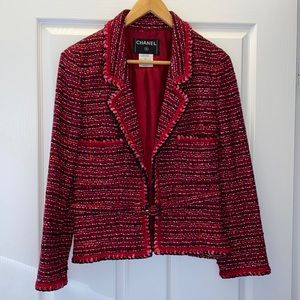 Chanel Belted Tweed Blazer Fall 2001 Collection